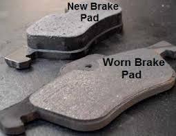Worn Brake Pads
